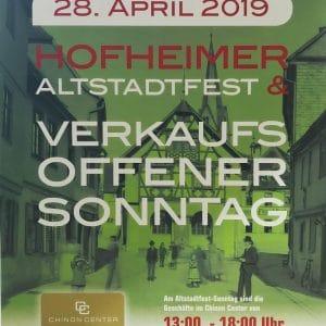 Verkaufsoffener Sonntag am 28. April 2019
