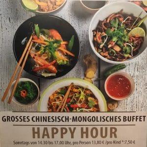 GROSSES CHINESISCHE-MONGOLISCHES BUFFET BEI YANGTSE