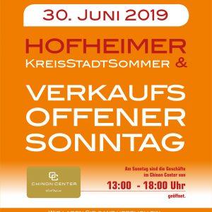 VERKAUFSOFFENER Sonntag am 30. JUNI 2019