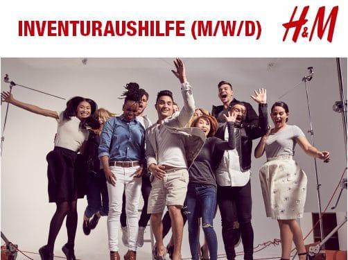 H&M SUCHT FÜR DEN 26.09.2019 VON 20-23 UHR  INVENTURAUSHILFEN (M/W/D)