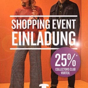 TOM TAILOR SHOPPING EVENT AM 7.SEPTEMBER 2019 – 20% AUF DIE NEUE HERBSTKOLLEKTION.