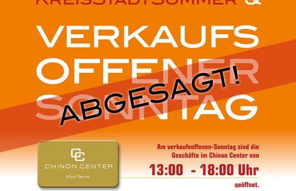 VERKAUFSOFFENER Sonntag AM 4. JULI ABGESAGT!
